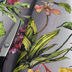 Tropical Hothouse Botanical Print Fabric
