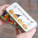 Personalised Letterbox Halloween Treat Tin