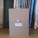 'Birthday' Porcelain Button Card