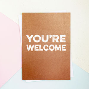 You're Welcome Card - shop by category