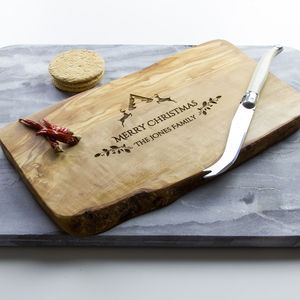 Personalised Christmas Cheese/Serving Board