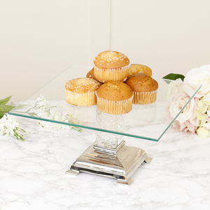 Luxury Crystal Stem Glass Cake Stand - cake stands