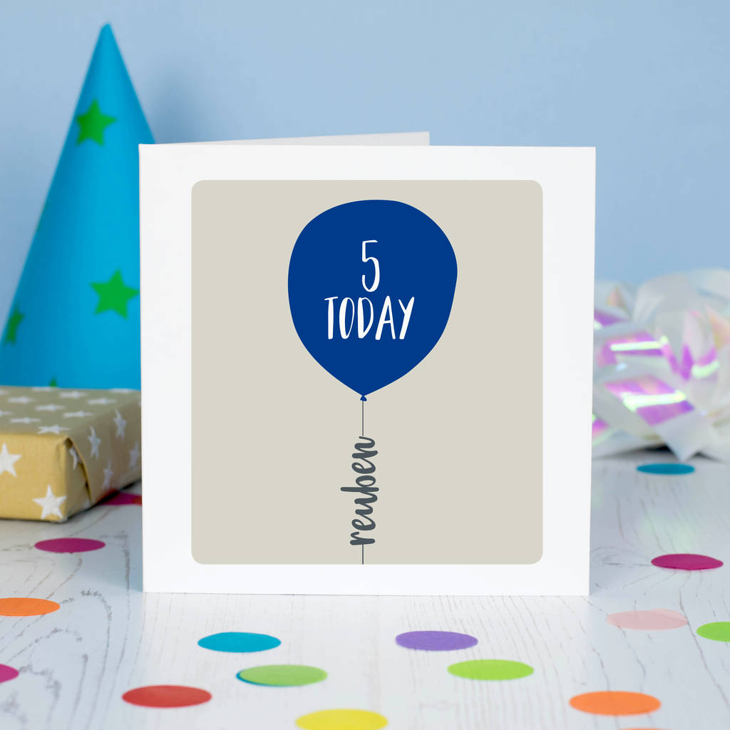 Birthday Any Age Personalised Card