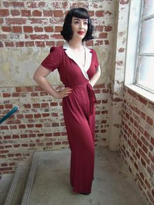 Vintage Style Jump Suit - women's fashion