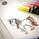 Unicorn Clear Rubber Stamp