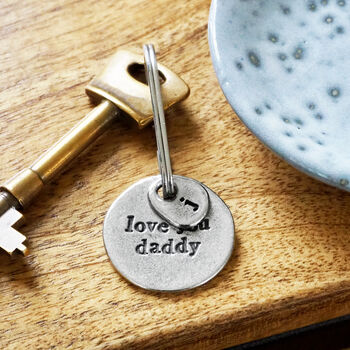 'Love You Daddy' Keyring