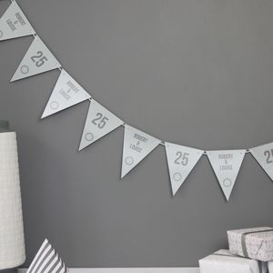 Silver Wedding Anniversary Bunting - what's new
