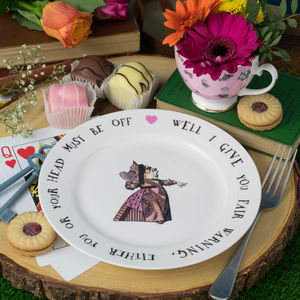 Red Queen Of Hearts Alice In Wonderland Tea Plate - tableware