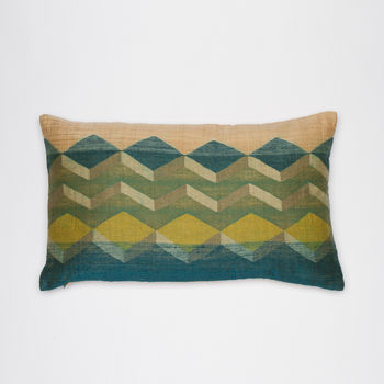 Handwoven Cushion With Bold Geometric Design