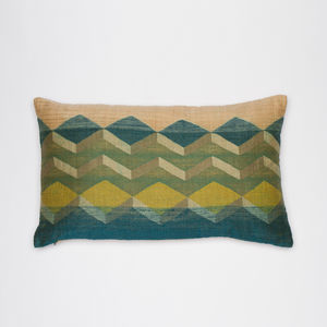 Handwoven Cushion With Bold Geometric Design - cushions