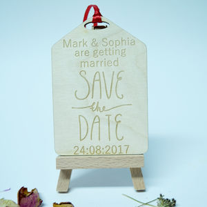 Personalised 'Save The Date' Gift Tag Invitation - invitations
