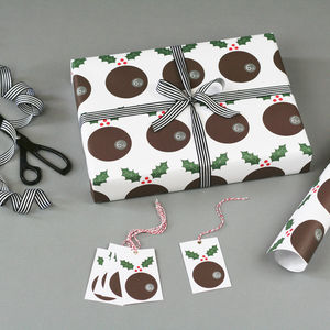 Christmas Pudding Christmas Wrapping Paper - christmas wrapping paper