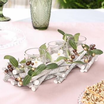 Spring Berry Tea Light Holder Centrepiece