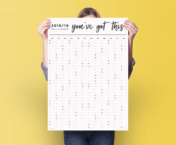 Sale Academic 2018 2019 'You've Got This' Wall Planner