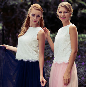 Maya Bridesmaid Tulle Skirt And Optional Lace Top - bridesmaid dresses