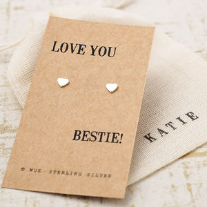 Silver Best Friend Gift Earrings - earrings