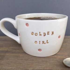 Golden Girl Gold Metallic Mug