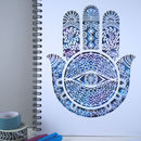 A5 Hamsa Spiral Bound Notebook