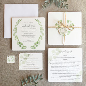 Eucalyptus Wedding Invitation Collection - wedding stationery