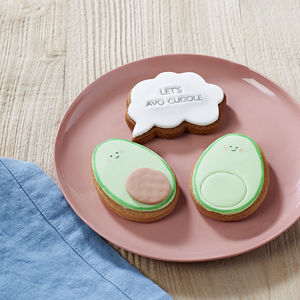 'Let's Avo Cuddle' Avocado Biscuits - personalised gifts