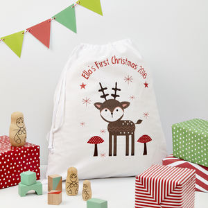 Personalised Christmas Gift Bag For Baby - stockings & sacks