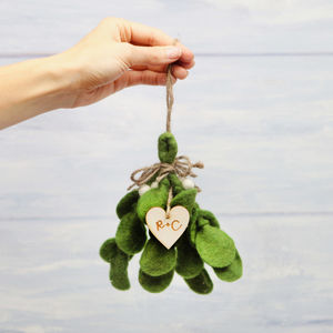 Christmas Felt Mistletoe Sprig Decoration - christmas decorations