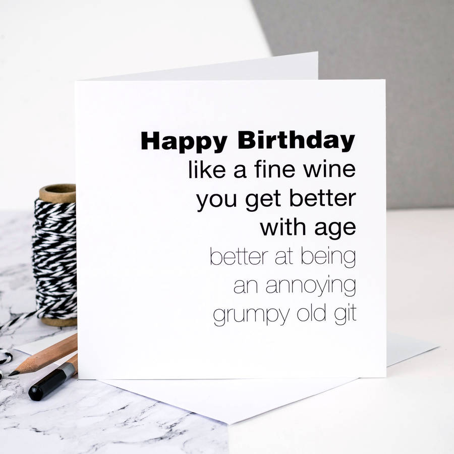 funny birthday card for men you get better with age by coulson – Birthday Cards for Men