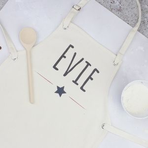 Personalised Kids Star Apron - kitchen