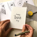 Happy Bee Day Plantable Birthday Card