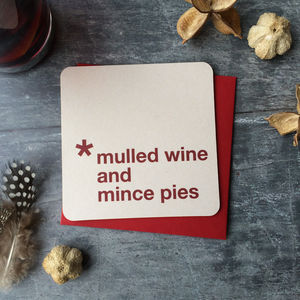 Mulled Wine And Mince Pies Invitations - cards & wrap