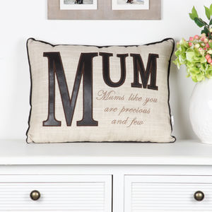 Close To The Heart Mum Cushion - bedroom