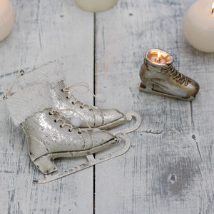 Ice Skates Winter Decoration Collection - candles & candle holders