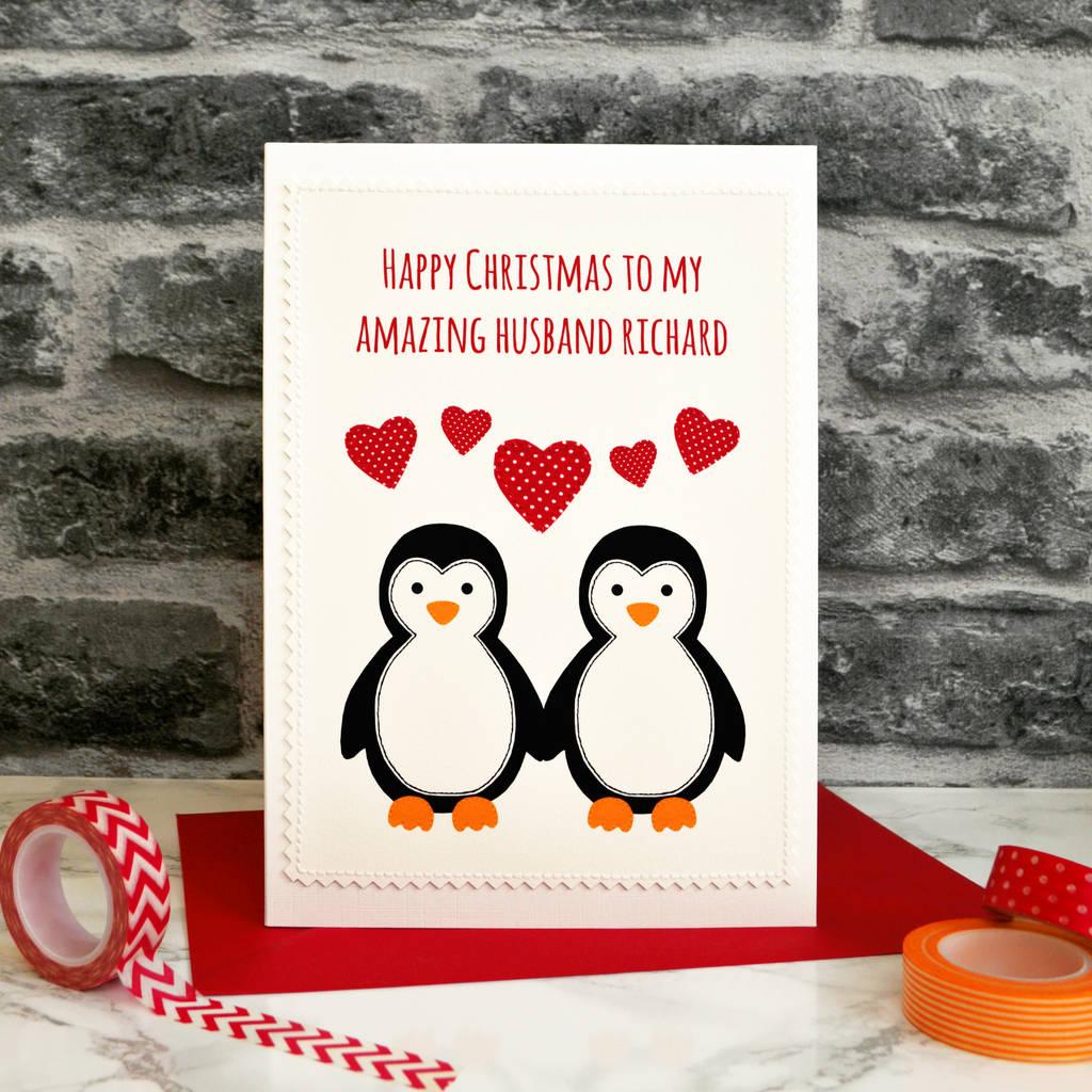 penguins in love\' handmade christmas card by jenny arnott cards ...