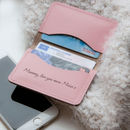 Personalised Slim Leather Card Case