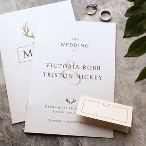 Hunt Is Over Wedding Day Stationery - what's new