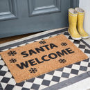 'Welcome Santa' Christmas Doormat