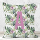 Personalised Tropical Print Cushion