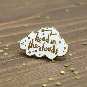 Dreamer Gold Constellation Enamel Pin - stocking fillers