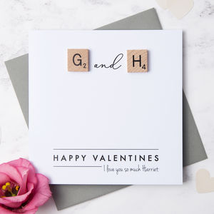 Personalised Scrabble Couple Love Card - valentine's cards for him