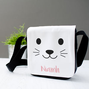 Personalised Children's Cute Animal Face Messenger Bag