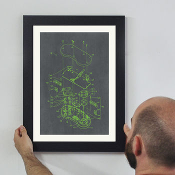 Retro Video Game Controller Wall Art