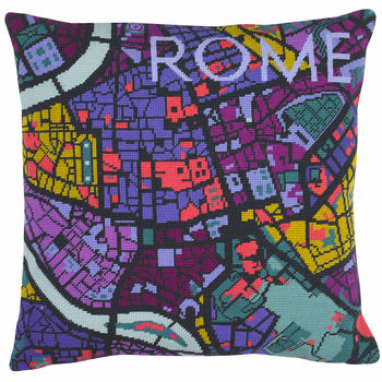 Contemporary Rome City Map Tapestry Kit