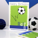 Personalised Football Team Birthday Card