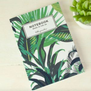 Tropical Palm Print Notebook - stationery-lover