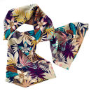 Tropical In Fall Printed Silk For Women