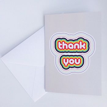 Thank You Greeting Card A6 Blank Inside