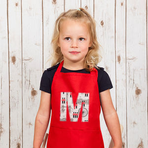 Personalised Children's Apron With London Print - kitchen