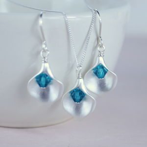 Calla Lily Birthstone Jewellery Set