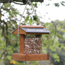 Personalised Wooden Garden Bird Feeder