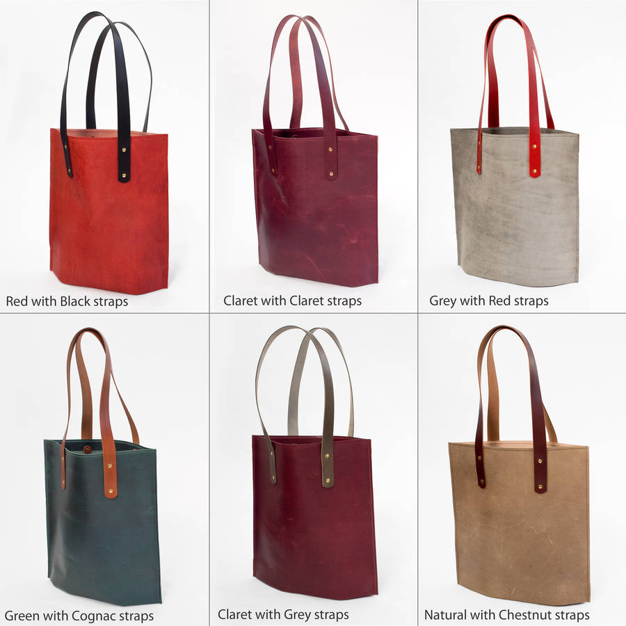 f04894d99 leather tote shopper bag by johny todd ltd | notonthehighstreet.com